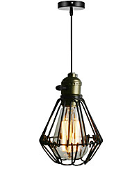 cheap -1-Light American Rural l retro industrial small chandelier creative single head Cafe Restaurant Bar mini lamp