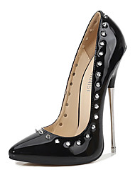 cheap -Women's Heels Stiletto Heel Pointed Toe Rivet Synthetics Sweet / Minimalism Summer / Spring & Summer Black / Silver / Red / Wedding / Party & Evening