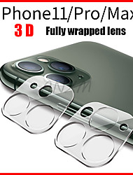 cheap -1Pcs Fully Transparent Film For iPhone 11 3D Full Cover Back Camera Lens Screen Protector for iPhone 11 Pro Max Tempered Glass Case