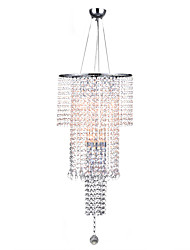 cheap -7-Light 35 cm Crystal Pendant Light Metal Crystal Electroplated Chic & Modern / Traditional / Classic 110-120V / 220-240V