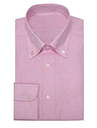 cheap -Pink Linen Button Down Shirt