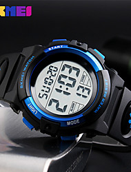 cheap -Men's Sport Watch Wrist Watch Digital Watch Japanese Digital Quilted PU Leather Black 50 m Water Resistant / Waterproof Alarm Calendar / date / day Digital Fashion - Red Gold Blue / Chronograph