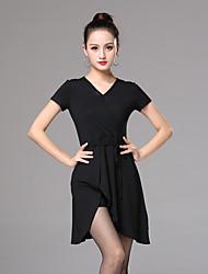 cheap -Women's Flapper Girl Latin Dance Flapper Dress Party Costume Flapper Costume Cotton Black Dress