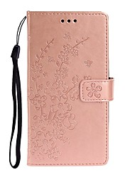 cheap -Case For Xiaomi Pocophone F1 / Redmi Note 7 / Redmi Note 6 Pro Wallet / Card Holder / with Stand Full Body Cases Solid Colored / Flower PU Leather For Redmi K20/K20 Pro/Redmi 8/8A/Note 10/Note 8
