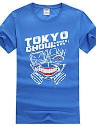 cheap -Inspired by Tokyo Ghoul Ken Kaneki Anime Cosplay Costumes Japanese Cosplay T-shirt Print Short Sleeve Top For Men's