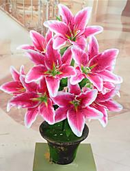 Недорогие -искусственные цветы 1 ветка классическая свадьба простой стиль лилии настольный цветок