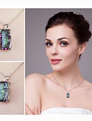 Недорогие -таинственный камень ожерелье и кулон стерлингового серебра ожерелье 925 очарование этническое племя ювелирные изделия женский