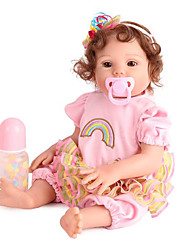 cheap -NPK DOLL Reborn Doll Girl Doll Baby Girl 20 inch Silicone Vinyl - lifelike Cute Hand Made Child Safe Non Toxic Lovely Kid's Girls' Toy Gift / Parent-Child Interaction / CE Certified / Floppy Head