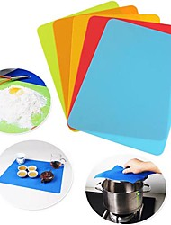 cheap -30*40cm Silicone Pad Mat Pastry Bakeware Mat Kitchen Non Stick Placemat Coaster Tableware Dish Drying Mat Heat Resistant Random Color