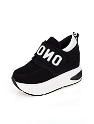 cheap -Women's Athletic Shoes Hidden Heel Round Toe Suede Booties / Ankle Boots Running Shoes Fall & Winter Black / Red / Gray