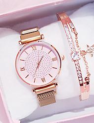 cheap -Women's Quartz Watches Quartz Luxury Chronograph Analog Rose Gold Black Blue / One Year / Stainless Steel / Imitation Diamond / One Year