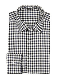 cheap -Black micro check shirt