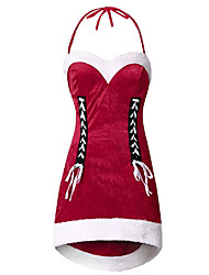 cheap -Women's Date Vacation Street chic Elegant Bodycon Dress - Color Block Bow Patchwork Red L XL XXL XXXL