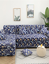 cheap -Navy Blue Print Dustproof All-powerful Slipcovers Stretch Sofa Cover