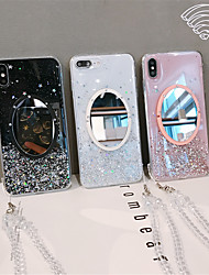 cheap -Case For Apple iPhone 11 / iPhone 11 Pro / iPhone 11 Pro Max Mirror / Pattern / Glitter Shine Back Cover Glitter Shine TPU