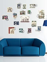 Недорогие -sk9169 ретро марка свободно придерживаться шкаф гардероб шкаф гостиная спальня фон декоративные наклейки