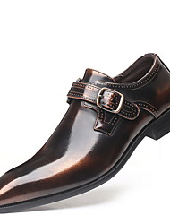 cheap -Men's Comfort Shoes PU Fall & Winter Loafers & Slip-Ons Black / Brown / Burgundy
