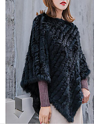 cheap -Sleeveless Capes Rabbit Fur / Knitwear Wedding / Party / Evening Women's Wrap With Solid / Fur