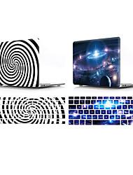 Недорогие -крышка клавиатуры Mac&усилитель; Корпус MacBook Sky / пластик с геометрическим рисунком для нового MacBook Pro 15 дюймов / Новый MacBook Pro 13 дюймов / Новый MacBook Air 13 2018