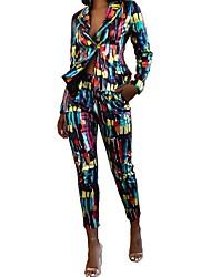 cheap -Women's Blazer - Geometric Pant