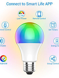 cheap -9W Intelligent WiFi Bulb Alexa Voice Controlled Colorful LED Bulb App Controlled RGBW Bulb