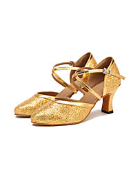 cheap -Women's Modern Shoes / Ballroom Shoes Lace Cross Strap Heel / Sneaker Tassel Slim High Heel Dance Shoes Gold / Performance / Practice