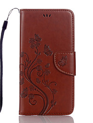 cheap -Case For Google Google Pixel / Google Pixel XL Card Holder Full Body Cases Butterfly / Flower PU Leather
