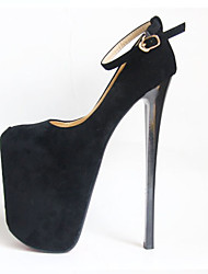 cheap -Women's Heels Stiletto Heel Closed Toe Synthetics British / Minimalism Fall / Spring & Summer Black / White / Red / Wedding / Party & Evening