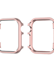 cheap -Cases For Apple iWatch Apple Watch Series 7 / SE / 6/5/4/3/2/1 / Apple Watch Series SE / 6/5/4/3/2/1 Metal Screen Protector Smart Watch Case Compatibility 38mm 42mm 40mm 44mm