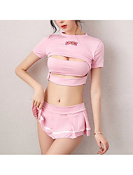 cheap -Women's Backless / Cut Out Matching Bralettes Nightwear Solid Colored Blushing Pink M L XL
