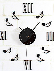 cheap -Musical Note Wall Clock DIY Roman Home Decor Watch Time Modern Designs Gift