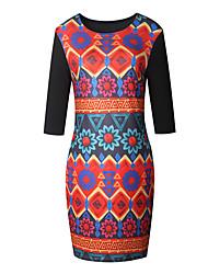 cheap -Women's Date Holiday Street chic Bodycon Dress - Paisley Print Purple Yellow Red S M L XL