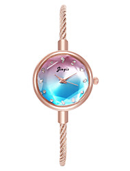 cheap -Women's Bracelet Watch Cubic Zirconia Casual Elegant White Blue Brown Alloy Chinese Quartz Blushing Pink Blue Red Casual Watch Imitation Diamond 1 pc Analog One Year Battery Life