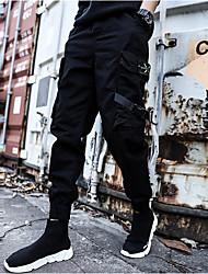 cheap -Men's Basic Harem Pants - Solid Colored Black Gray Khaki US34 / UK34 / EU42 US36 / UK36 / EU44 US38 / UK38 / EU46