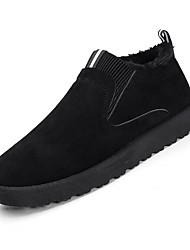 baratos -Homens Sapatos Confortáveis Camurça Outono & inverno Botas Botas Curtas / Ankle Preto / Amarelo / Cinzento