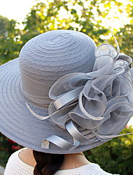 cheap -Women's Basic Polyester Sun Hat-Solid Colored Black White Blushing Pink
