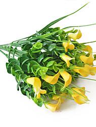Недорогие -искусственный цветок калла цветочный горшок цветочная композиция маленький букет украшение дома обстановка фотография 1 палочка