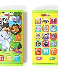 cheap -HS-YS2604A Toy Phone Educational Toy Learning Pad Y-phone Touch Screen Rechargeable Cool Simulation Parent-Child Interaction Music & Light with Screen Kid's Child's All 1 pcs Toy Gift