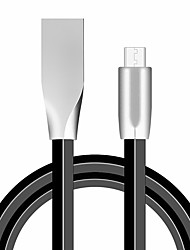 cheap -Charging Cable Metal Flat High Speed Zinc Alloy Fast Charger for iPhone/Type-C /Micro USB