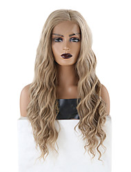 cheap -Synthetic Lace Front Wig Wavy Side Part Lace Front Wig Long Blonde Synthetic Hair 18-26 inch Women's Soft Adjustable Heat Resistant Blonde