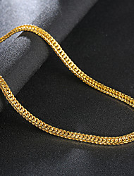 cheap -Men's Chain Necklace Long Necklace Classic Precious Unique Design Fashion Punk Gold Plated Chrome Gold 75 cm Necklace Jewelry 1pc For Street Daily Work