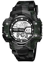 Недорогие -SYNOKE электронные часы Цифровой Спортивные Стильные силиконовый 30 m Защита от влаги Календарь ЖК экран Цифровой На открытом воздухе Мода - Зеленый Синий Серый
