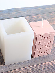 cheap -Creative Pattern Candle Silicone Mold Hand Aromatherapy Candle Gypsum DIY Silicone Mold