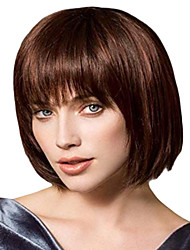 cheap -Synthetic Wig kinky Straight Bob Layered Haircut Wig Long Brown Synthetic Hair 10 inch Women's Women Light Brown Sylvia