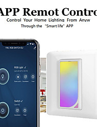 cheap -Amazon Alexa voice control / WIFI smart switch APP remote control / European 123-way switch panel