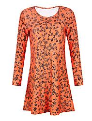 cheap -Women's Event / Party Daily Basic Swing Dress - Floral Purple Orange S M L XL