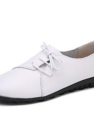 cheap -Women's Flats Flat Heel Round Toe PU Fall & Winter Black / White / Green