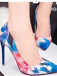 cheap -Women's Heels Stiletto Heel Pointed Toe PU Winter Blue / Pink