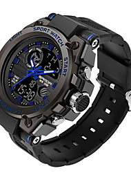 cheap -SANDA Men's Military Watch Digital Sporty Stylish Silicone 30 m Water Resistant / Waterproof Calendar / date / day LCD Analog - Digital Outdoor Fashion - Black Black / Blue black / gold / Noctilucent