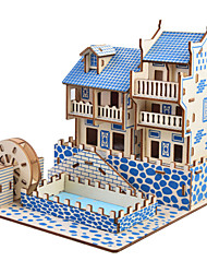 cheap -3D Puzzle Jigsaw Puzzle Model Building Kit Famous buildings Chinese Architecture DIY Simulation Wooden Classic Chinese Style Kid's Adults' Unisex Boys' Girls' Toy Gift / Wooden Model